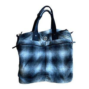Lululemon large gray and black bag / purse